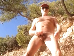 wank in beach