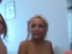 Dildo stuffed inside blonde's creamy vagina