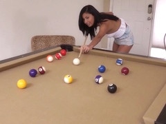 Amateur gf assfucked on pool table