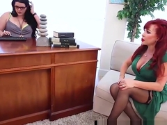 Therapist Angelina Castro StrapOn Fucks Mature Sexy Vanessa!