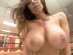 VRBangers.com-Busty milf Kendra Lust getting fucked hard in the boxing ring