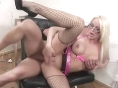 Busty blonde Gina loves hard fucking in all her holes
