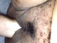 Huge fat pussy drilled by a fist and a big vibrator