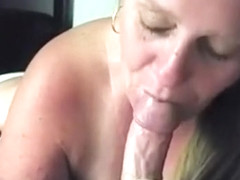 Blonde Jaelyn Fox blowjob and fuck big black cock