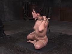 Interracially dominated beauty gets bound