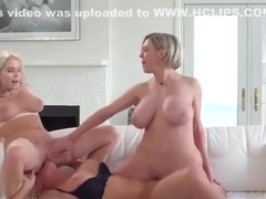Two sexy parents lick teachers wet pussy
