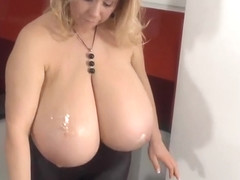 Incredible blonde mature female