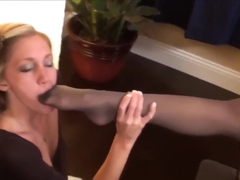 kayla jane office foot worship