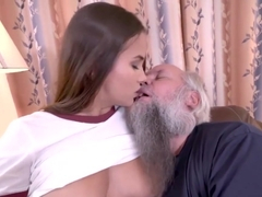18yo Teen Olivia Nice Gives A Bj And Rides Old Geezers Cock