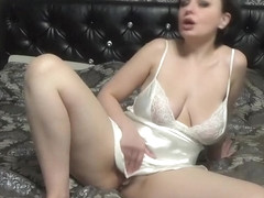3 orgasms from satin masturbation! My gf Kattie