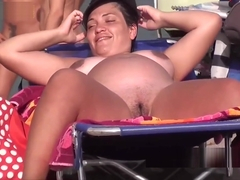 Exhibitionist jerking off in public bobs and vagene