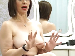 Astonishing porn scene MILF show