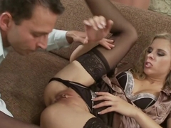 Horny pornstar Katy Sweet in amazing piercing, blonde porn clip