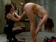 Fabulous fetish porn scene with crazy pornstars Princess Donna Dolore and Maitresse Madeline Marlowe from Whippedass