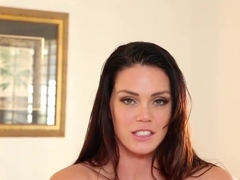 Alison Tyler's tits can only get more perfect when covered with cum
