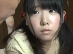 Japanese old man and teen girl