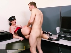 Slutty Campus Security takes a big cock for the team - Brazzers