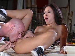 Ambrosial oriental Asa Akira in amazing fingering porn performance