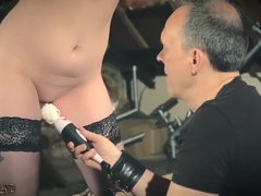 Teen slave in submission does what the master says and gets punished