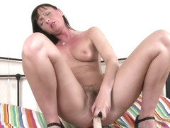 Tracey Lain fucks her pussy with a few toys!