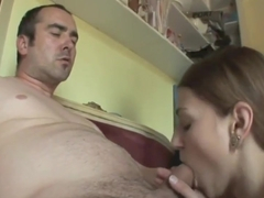 handcuffed boyfriend sees his girl fucking lover