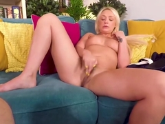 Mom Amber Deen is Desperate for You - She strips, masturbates, Sucks and Fucks You POV