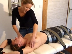 FrenchTickling - Meleane Is Wrapped & Mercilessly Tickled By Veronique