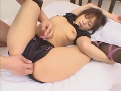 Hottest Japanese chick Mika Mizuno in Horny Lingerie, Stockings JAV clip