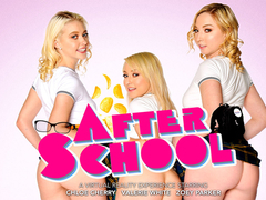 After School featuring Chloe Cherry, Zoe Parker, and Valerie White - NaughtyAmericaVR
