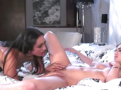Jade Baker Lilly Hall Lesbian overnight Foreplay