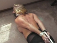 CRYSTAL FROST GIRDLE SALES LADY ROPED AND GAGGED LAST PART.w