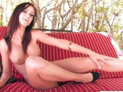 Sexy Kendall Karson Plays With Her Tight Wet Pussy Till She