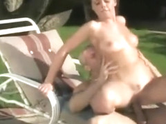 Horny Babe Takes His Cock Deep In Her Muff Outdoors