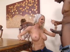 Emma sucks a gigantic black neighbor cock