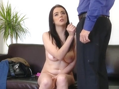 Pretty Spanish Claudia Bomb was fucked during casting