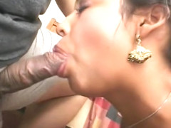 Luscious indian beauty sucks and fucks a stiff cock