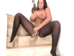 Busty Emma Butt In Stairs Tease