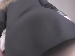 Best upskirt video of a slutty blonde with g-string