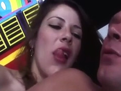 Shemale uses huge cock to fuck guy
