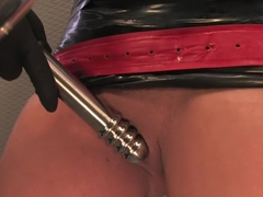 Horny fetish, latex porn video with best pornstar Lorena Sanchez from Fuckingmachines
