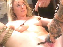 Blonde sub is used and fucked by master