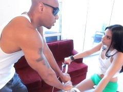 Latin slut, Coco Valentina is getting her daily dose of fuck from her horny, black friend