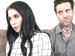 Amazing brunette, Joanna Angel is having a threesome with Elsa Jean and her best friend