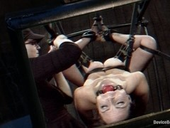 Hot Bryn Blayne In Chain Only Suspension Bondage