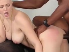 Hot Blonde Teen Jenna Ivory Interracial Sex On The Couch