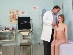 Nice blonde girl in gyno exam fetish