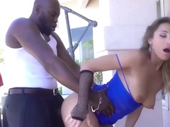 Pornstar babe Rita Rush gets fucked in doggystyle outdoor