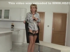 Unfaithful british milf lady sonia flashes her monster boobs