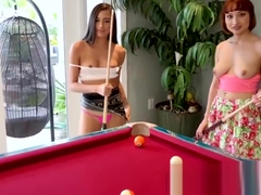 Mofos - Real Slut Party - Two Babes Play Strip Pool starring