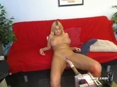 Breasty golden-haired dilettante camweb sex machine